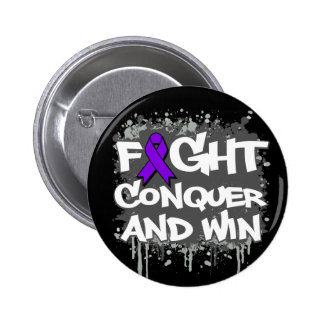 Epilepsy Fight Conquer and Win 6 Cm Round Badge