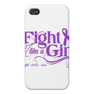 Epilepsy Fight Like A Girl Elegant Cover For iPhone 4