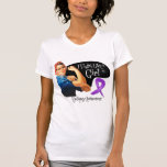 Epilepsy Fight Like a Girl Rosie The Riveter Shirt