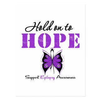 Epilepsy HOLD ON TO HOPE Postcard