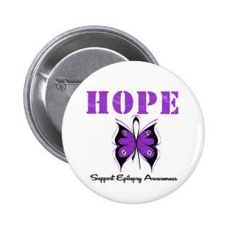 Epilepsy HOPE 6 Cm Round Badge