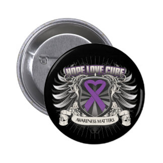 Epilepsy Hope Love Cure 6 Cm Round Badge