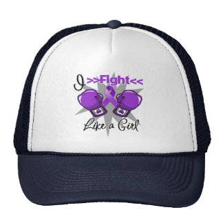 Epilepsy I Fight Like a Girl With Gloves Cap