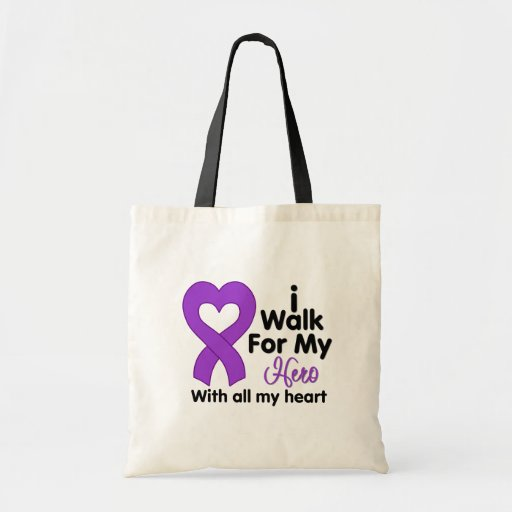 Epilepsy I Walk For My Hero Tote Bag