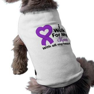 Epilepsy I Walk For My Hero Doggie Tshirt