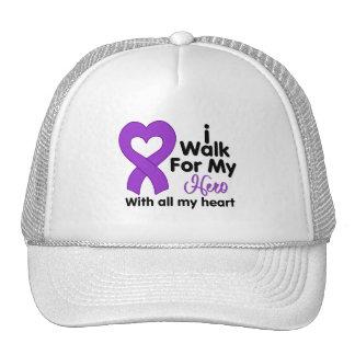 Epilepsy I Walk For My Hero Trucker Hat