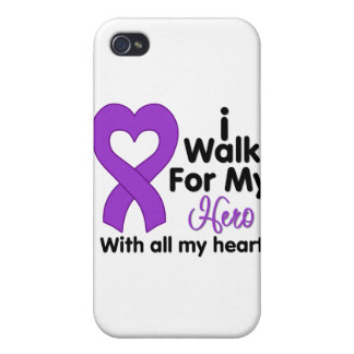 Epilepsy I Walk For My Hero iPhone 4/4S Cover