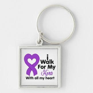 Epilepsy I Walk For My Hero Keychains