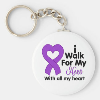 Epilepsy I Walk For My Hero Key Chains