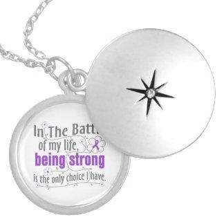 Epilepsy In The Battle Round Locket Necklace