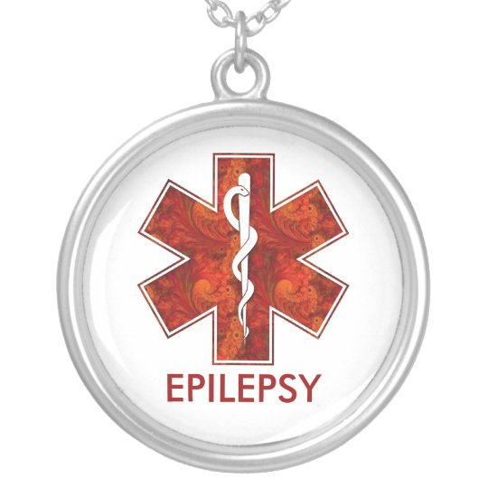 Epilepsy Medical Necklace: Customisable Silver Plated Necklace