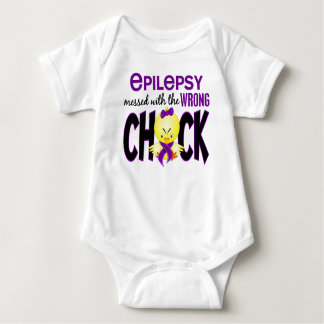 Epilepsy Messed With The Wrong Chick Baby Bodysuit
