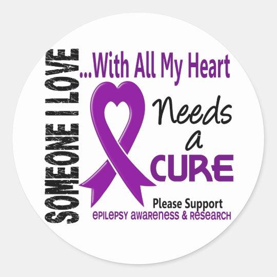Epilepsy Needs A Cure 3 Classic Round Sticker