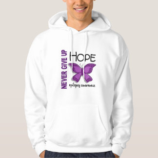 Epilepsy Never Give Up Hope Butterfly 4.1 Hoodie