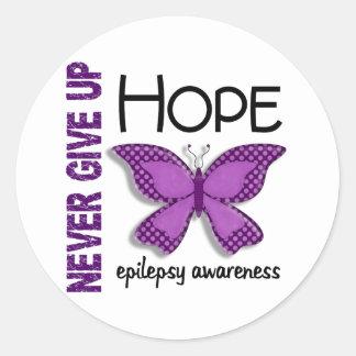 Epilepsy Never Give Up Hope Butterfly 4.1 Round Sticker