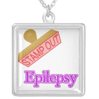 Epilepsy Square Pendant Necklace