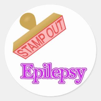 Epilepsy Round Stickers