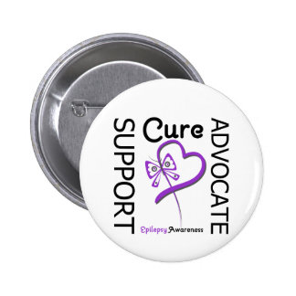Epilepsy Support Advocate Cure 6 Cm Round Badge