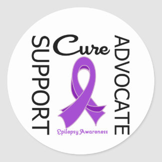 Epilepsy Support Advocate Cure Round Sticker
