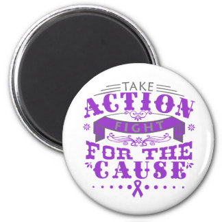 Epilepsy Take Action Fight For The Cause Fridge Magnet