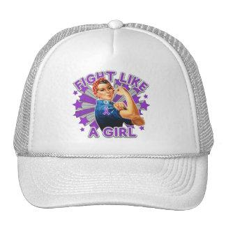 Epilepsy Vintage Rosie Fight Like A Girl Trucker Hats
