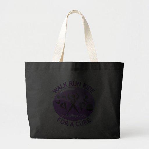 Epilepsy Walk Run Ride For A Cure Canvas Bag