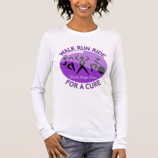 Epilepsy Walk Run Ride For A Cure Long Sleeve T-Shirt