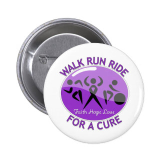 Epilepsy Walk Run Ride For A Cure Pinback Button