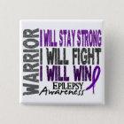 Epilepsy Warrior 15 Cm Square Badge
