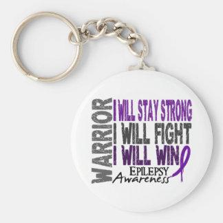 Epilepsy Warrior Basic Round Button Key Ring