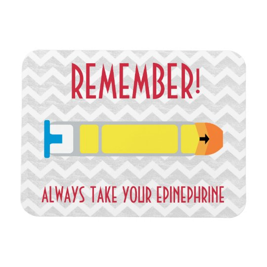 Epinephrine Reminder Magnet for Allergies