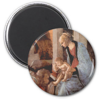 Epiphany by Botticelli 6 Cm Round Magnet