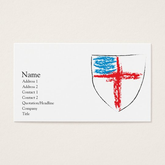 Episcopal Shield Business Card