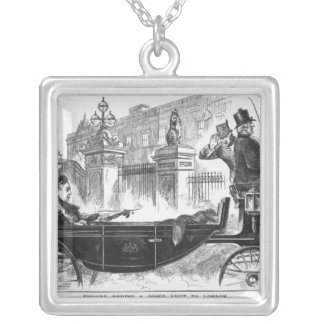 Episode During a Brief Visit to London Silver Plated Necklace