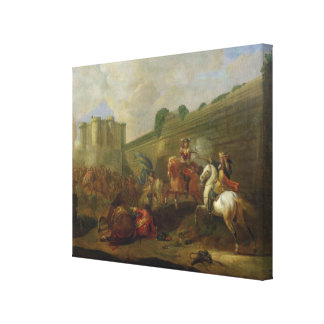 Episode of Fronde at the Faubourg Saint-Antoine Canvas Print