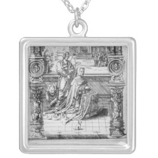 Epitaph of Margaret of Austria Silver Plated Necklace