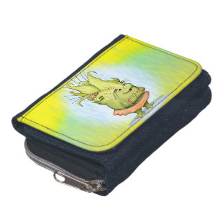 EPIZELLE ALIEN  CARTOON Denim Wallet with Coin Pur