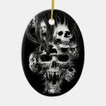 Epouvante d'Halloween - Ceramic Oval Decoration