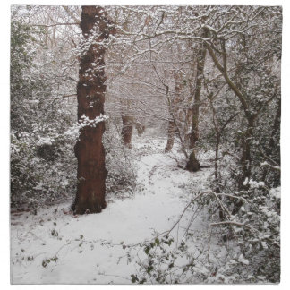 Epping Forest in the snow. Napkin