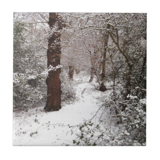 Epping Forest in the snow. Tile