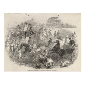Epsom Races, 'Derby Day': Leaving the Course Postcard
