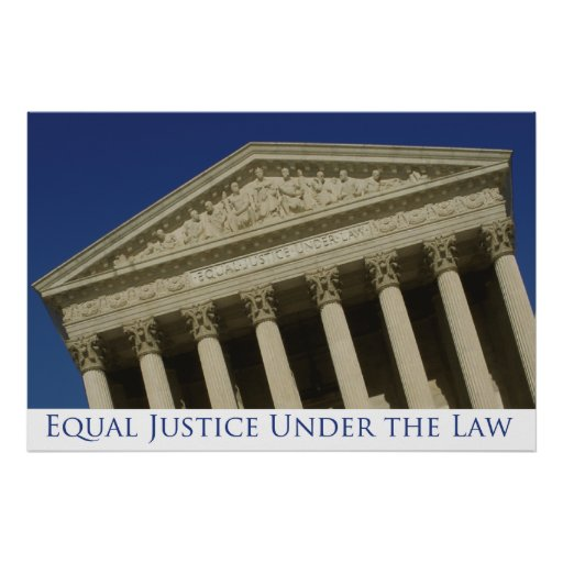 Equal Justice Under the Law Poster