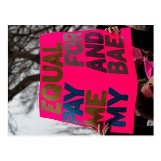Equal Pay Postcard