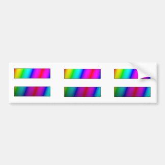 Equal.  Period.  THREE rainbow equality stickers. Bumper Sticker