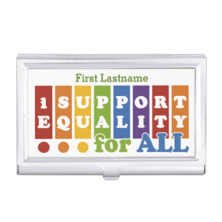 Equal Rights custom business card holder