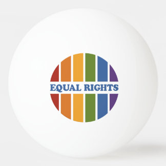 Equal Rights custom monogram ping pong balls