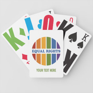 Equal Rights custom playing cards