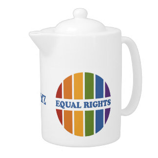 Equal Rights custom tea pot