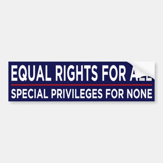 Equal Rights For All Bumper Sticker