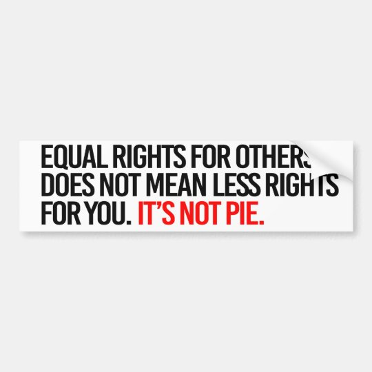 Equal Bumper Sticker Meaning